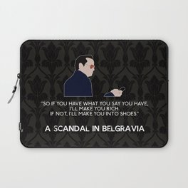 A Scandal in Belgravia - Jim Moriarty Laptop Sleeve