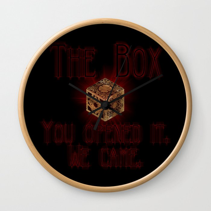 Hellraiser The Box You Opened It Wall Clock