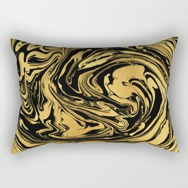 Black and Gold Marble Edition 2 Rectangular Pillow