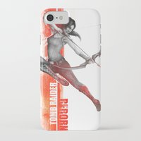 tomb raider iPhone & iPod Cases featuring Tomb Raider Reborn by Brandseed