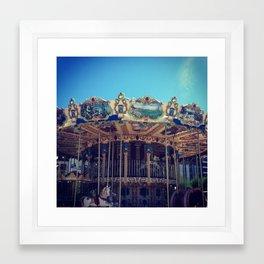 Merry Go Round in San Sebastian, Spain. Framed Art Print