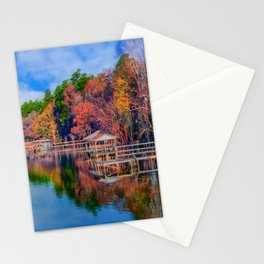 Autumn on the Lake Stationery Cards