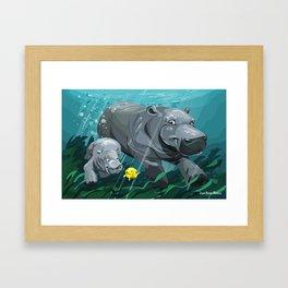 Hippos Framed Art Print