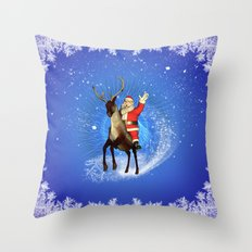 Funny Santa Claus Throw Pillow