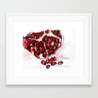pomegranate Framed Art Prints featuring Pomegranate by James Peart