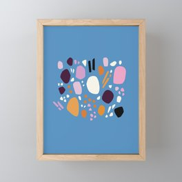 Composition No. 1 Blue Framed Mini Art Print