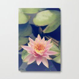 TRANQUIL POND WATERLILLY Metal Print