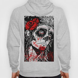 Girl With Sugar Skull, Day of the Dead Hoody