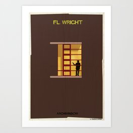 Frank Lloyd Wright _windows Art Print
