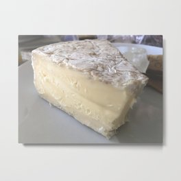 Delicious Brie Cheese Metal Print