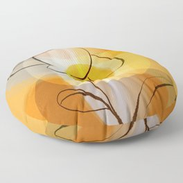 Abstract flower Floor Pillow
