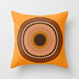 Tiger Eye Mandala Throw Pillow
