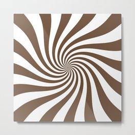 Swirl (Coffee/White) Metal Print