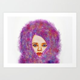 Cotton Candy Innocence Art Print