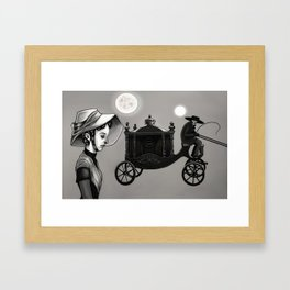 He Kindly Stopped for Me Framed Art Print