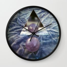 Crystal balls, Velvet, and Mirrors Wall Clock