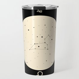 Leo - Black Travel Mug