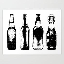 Vintage Beer Bottles Kunstdrucke
