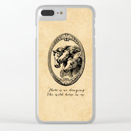 Virginia Woolf - There is no denying the wild horse in us. Clear iPhone Case