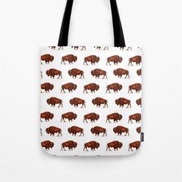 Buffalo Bison Watercolor Print Tote Bag