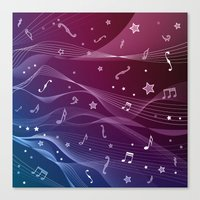 rock and roll Canvas Prints featuring Rock and roll by victimArte