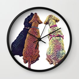 Three Amigos I Wall Clock