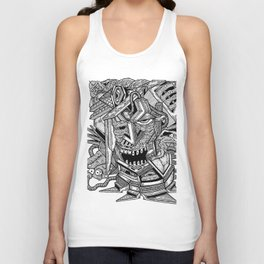 Geometric Mutations: Time to Wake Up Unisex Tank Top