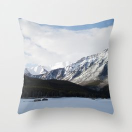 Vermilion Lakes Throw Pillow
