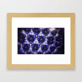 Kaleidoscope in Purple Framed Art Print