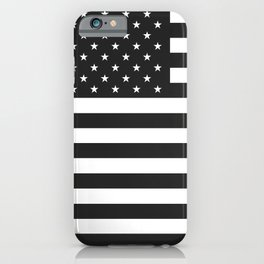 American Flag Stars and Stripes Black White iPhone Case
