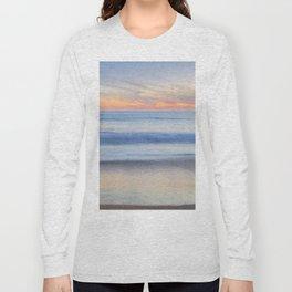 Magical Waves at sunset. Square. Tarifa Beach Long Sleeve T-shirt