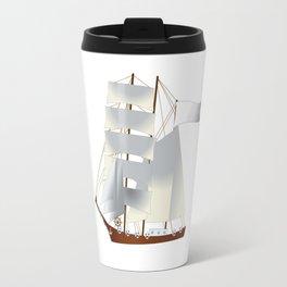 Ship, steamer, steamship, boat Travel Mug