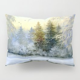 Beautiful Winter Painting Pillow Sham