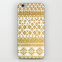 golden girls iPhone & iPod Skins featuring GOLDEN TRIBAL by Nika