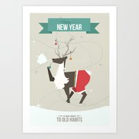 Happy New Year - A New Start to Old Habbits Art Print