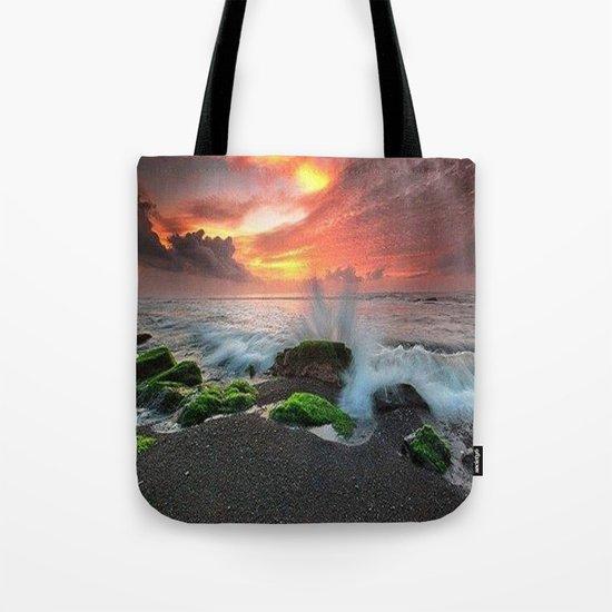 crazy sea Tote Bag