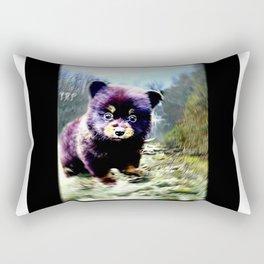Bear Models: Black Bear Cubs 01 Rectangular Pillow