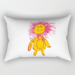 RED HAIR LION Rectangular Pillow