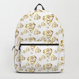 Diamonds - Gold Backpack