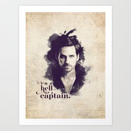 A Hell of a Captain Art Print