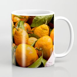 A Photo of Oranges with Green Stems Coffee Mug