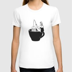 Laid-Back Time White Womens Fitted Tee MEDIUM