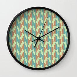 Shadow Leaves Stripes Wall Clock
