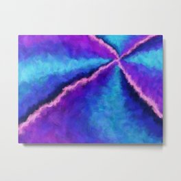 Magic Unicorn Vortex Metal Print