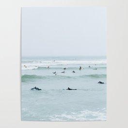 Tiny Surfers Lima, Peru Poster