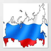 russia Canvas Prints featuring russia by youssefyouchaa