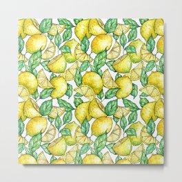Summer Love - lemon pattern Metal Print