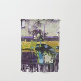 Controversy Prince Deep Purple Abstract Painting Modern Art Wall Hanging