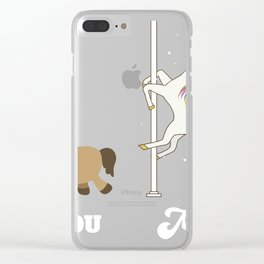 Pole Dance Like A Unicorn Gift product For Horny Horses Clear iPhone Case