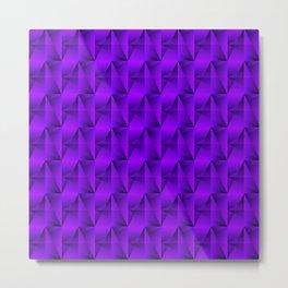 Strange arrows of violet rhombs and black strict triangles. Metal Print